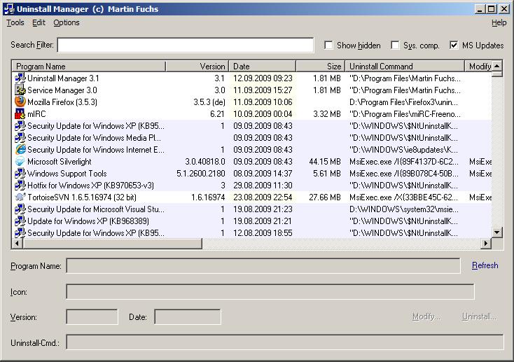 Windows 7 Uninstall Manager 5.3 full